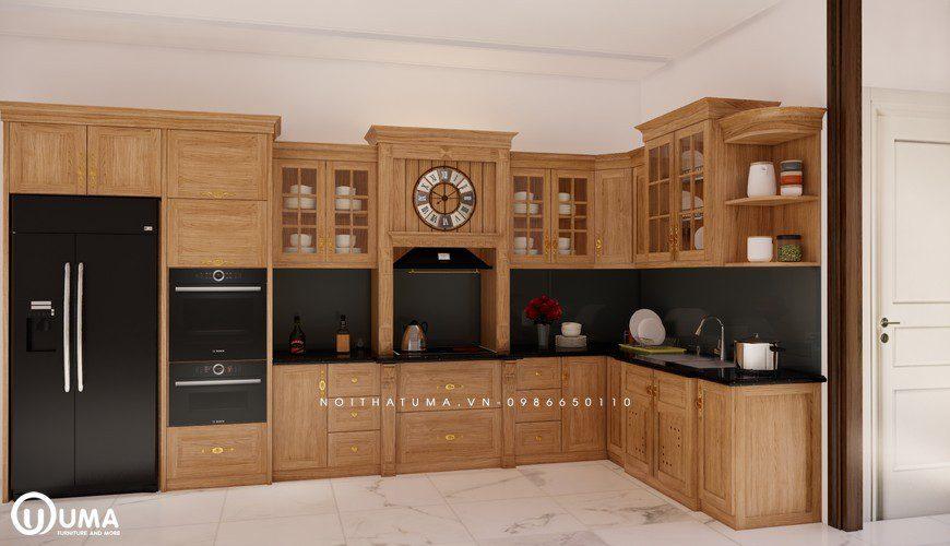 Tủ bếp gỗ Sồi Mỹ - USM 03, tủ bếp gỗ Sồi Mỹ, ,