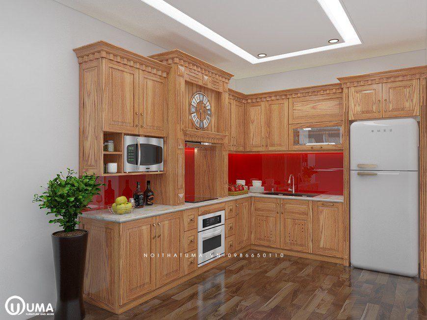 Tủ bếp gỗ Sồi Mỹ - USM 05, tủ bếp gỗ Sồi Mỹ, ,