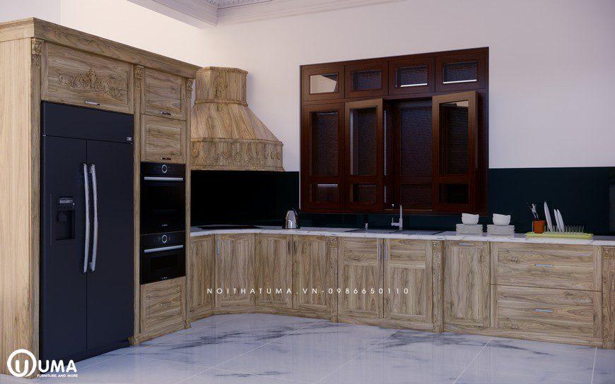 Tủ bếp gỗ Sồi Nga - USN 17, tủ bếp gỗ Sồi Nga, ,