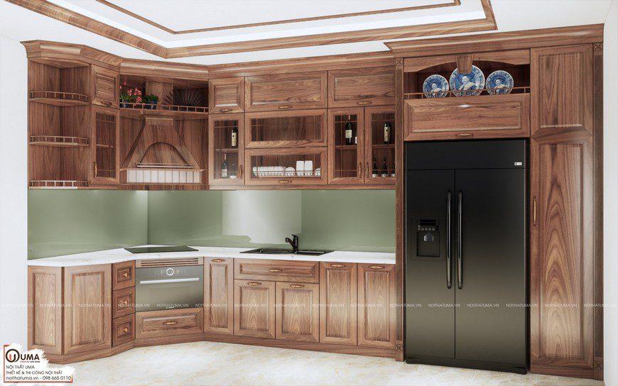 Tủ bếp gỗ Xoan Đào – UXD 15