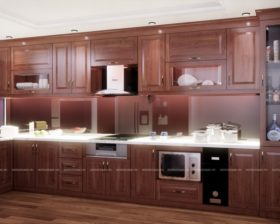 Tủ bếp gỗ Xoan Đào – UXD 03