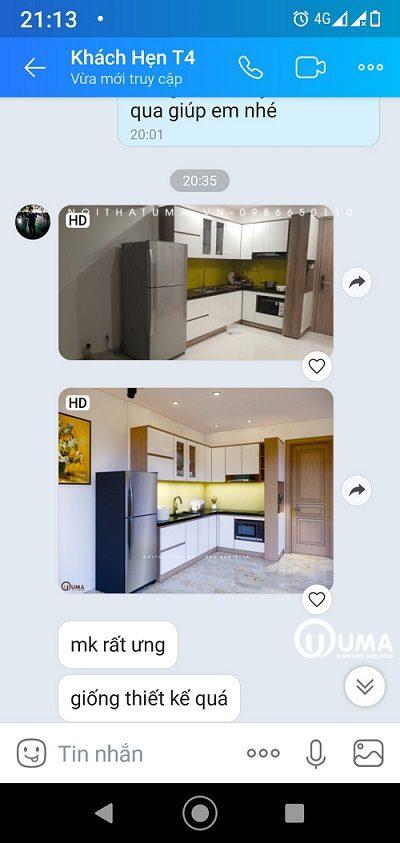 feedback tủ bếp