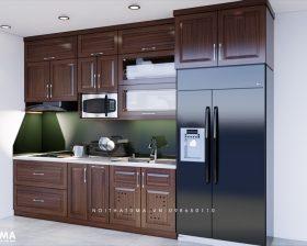 Tủ bếp gỗ Xoan Đào – UXD 13