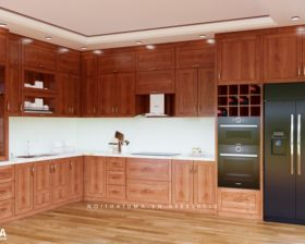 Tủ bếp gỗ Xoan Đào – UXD 10