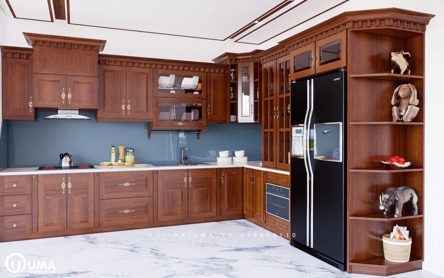 Tủ bếp gỗ Xoan Đào – UXD 08, tủ bếp gỗ Xoan Đào, ,