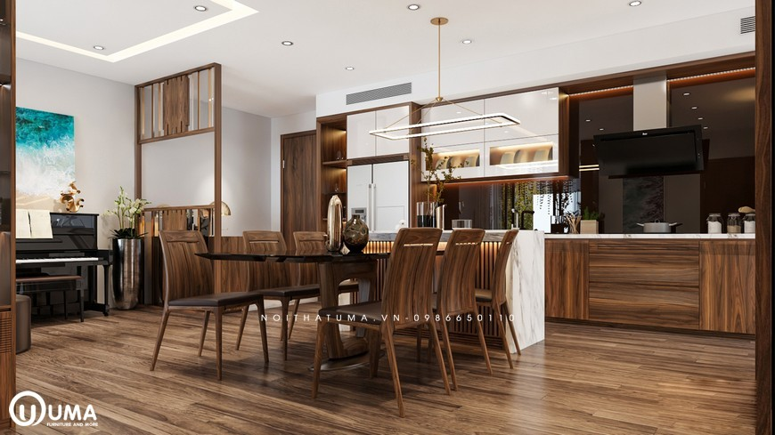 Tủ bếp Acrylic – UAC 24
