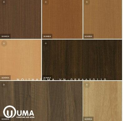 Tủ bếp Laminate An Cường bề mặt giải gỗ