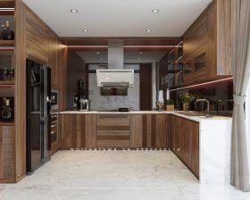 Tủ bếp Melamine