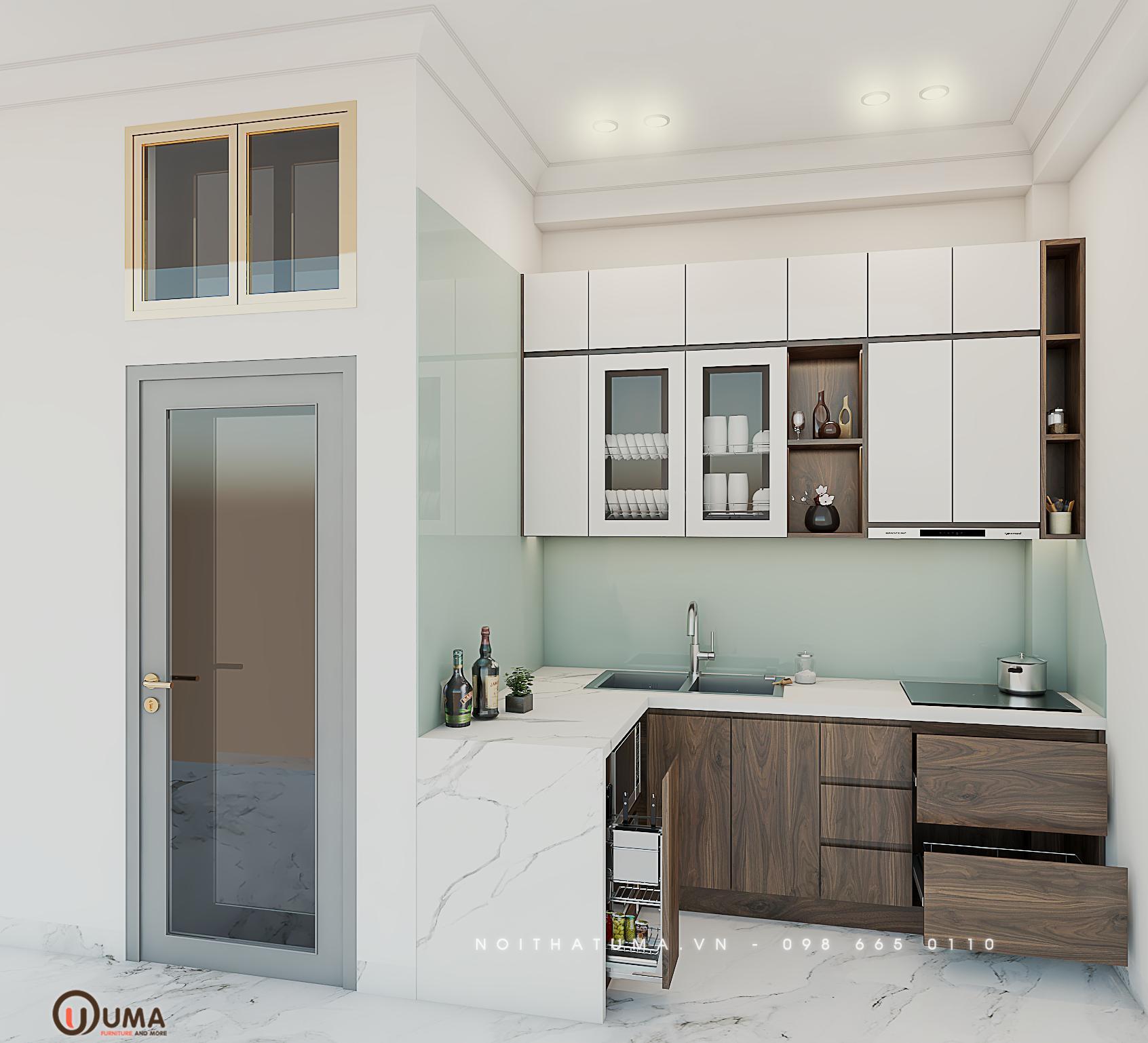 Tủ bếp Acrylic – UAC 40