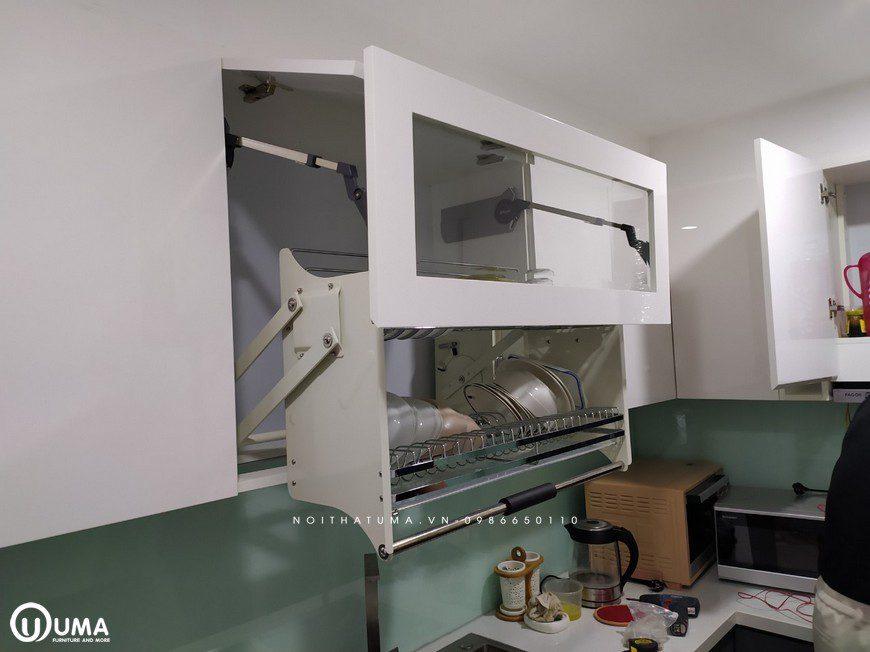 Thi công tủ bếp Acrylic An Cường nhà anh Dũng - Chung cư MIPEC Long Biên
