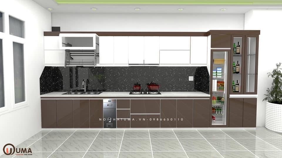 Tủ bếp laminate chữ I UMA