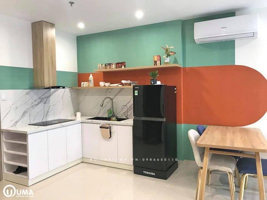 Thiết kế tủ bếp đẹp chữ L