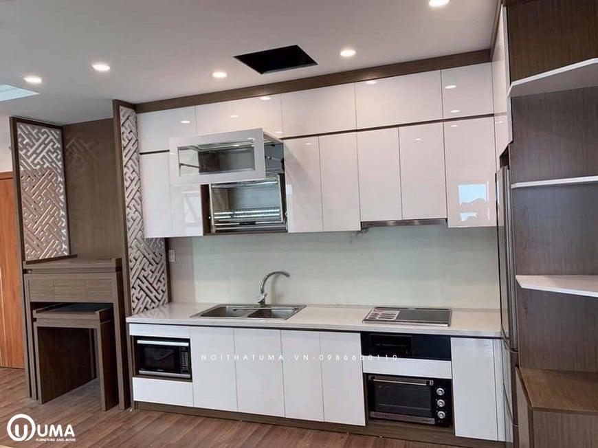 Mẫu tủ bếp cho nhà bếp nhỏ 2m-3m