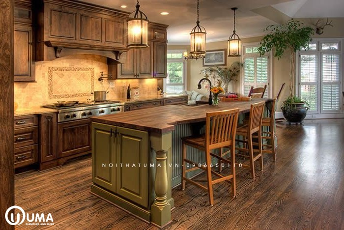 Phong cách thiết kế tủ bếp đồng quê (Country style)