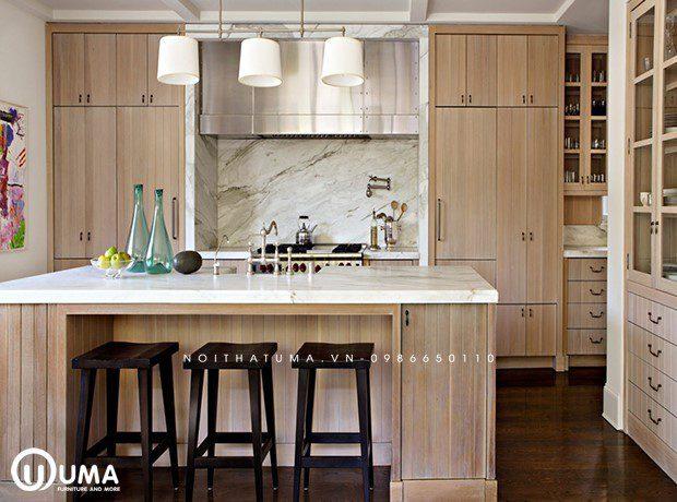 Phong cách thiết kế tủ bếp mộc mạc (Rustic)