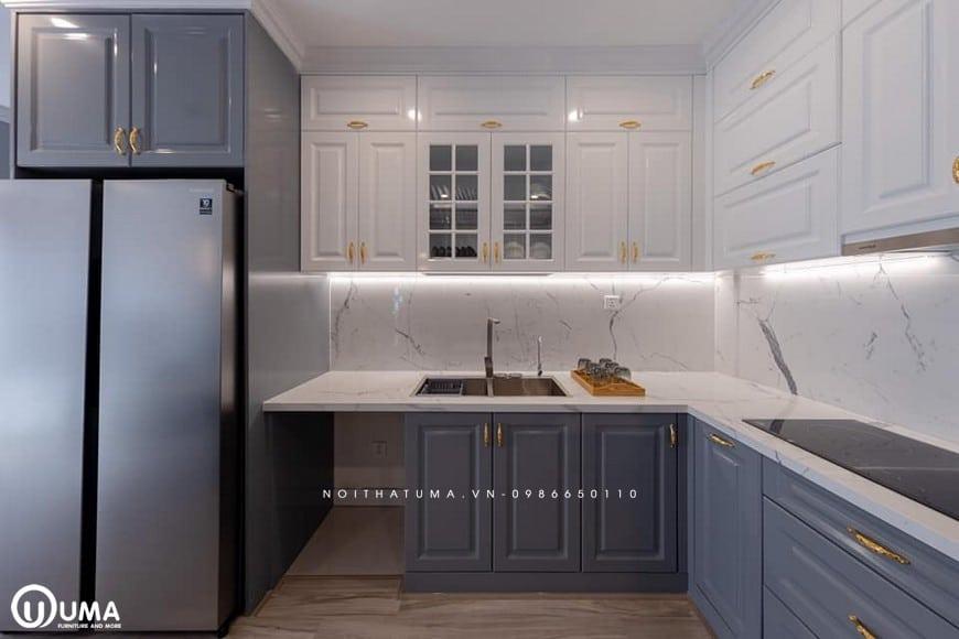 Tủ bếp nhỏ hợp mệnh Mộc