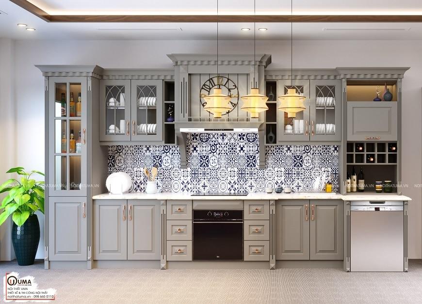 mẫu tủ bếp đẹp chữ I