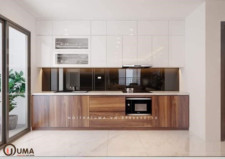 Tủ bếp Melamin chữ I UMA