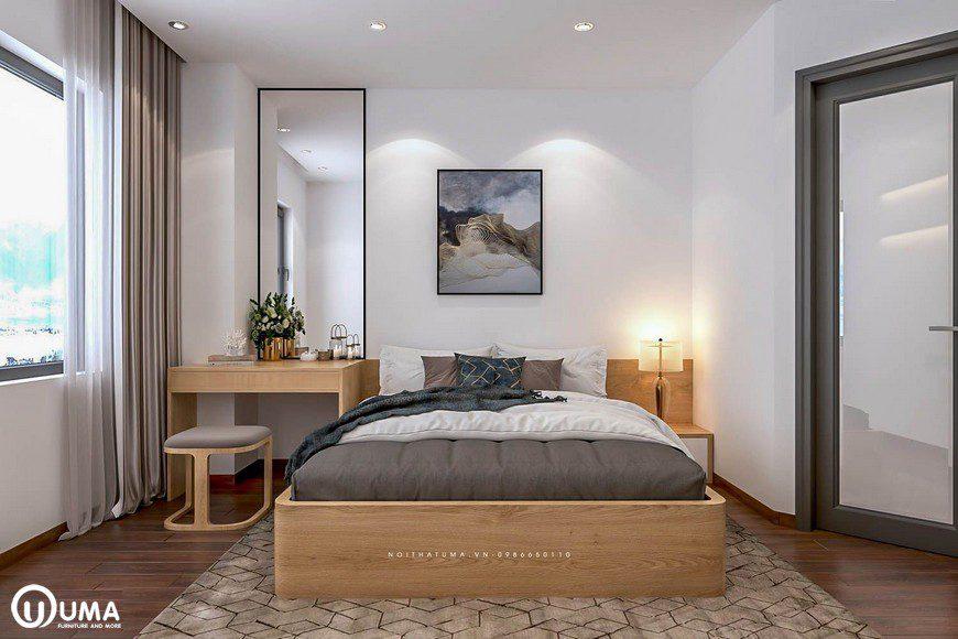 Thiết kế nội thất phòng ngủ master nhà chị Mai