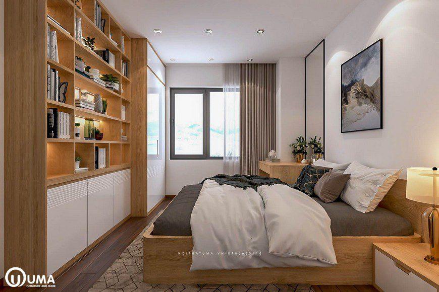 Thiết kế nội thất phòng ngủ nhà chị Mai tại Mipec Long Biên