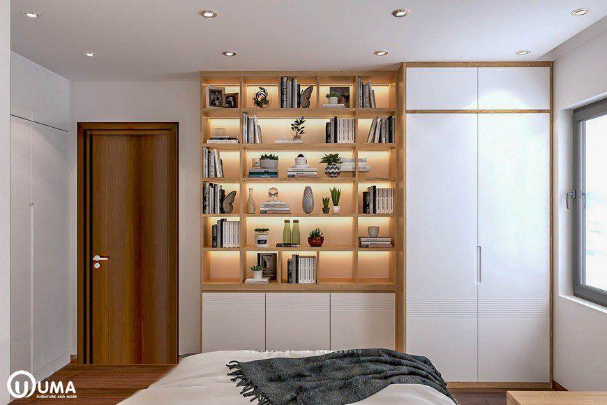 Thiết kế nội thất phòng ngủ master nhà chị Mai tại chung cư Mipec Long Biên