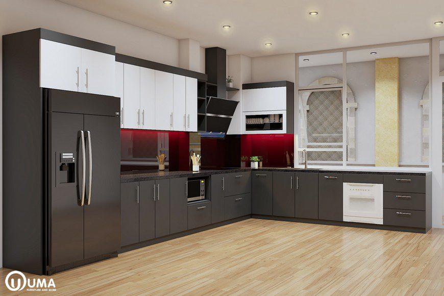 Mẫu tủ bếp đẹp hiện đại cho nhà phố
