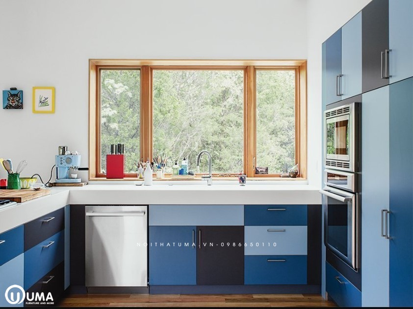 Mẫu tủ bếp Nhựa Picomat