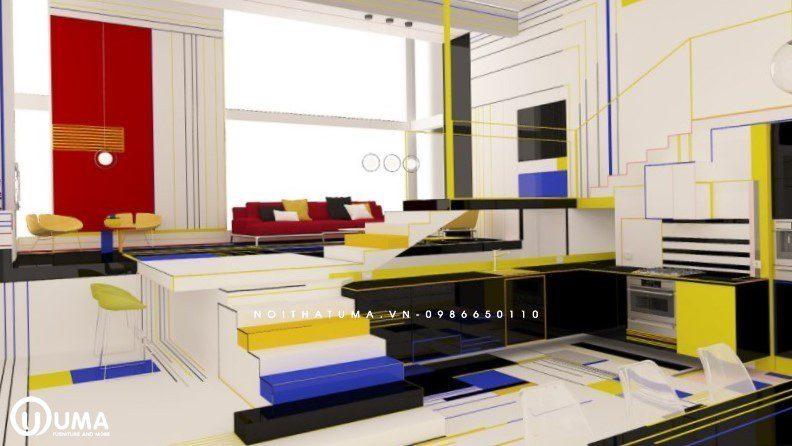 Phong cách thiết kế tủ bếp Expressionism