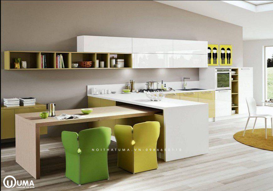 Phong cách thiết kế tủ bếp Pop Art