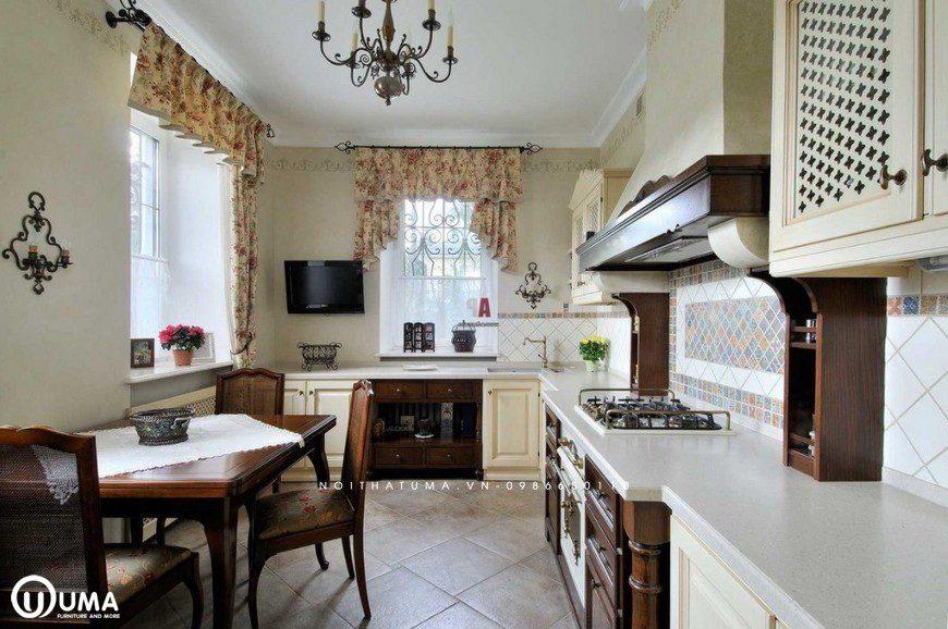 Phong cách thiết kế tủ bếp Romanticism