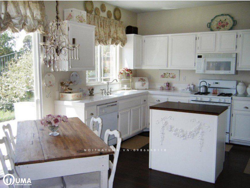 Phong cách thiết kế tủ bếp Shabby Chic