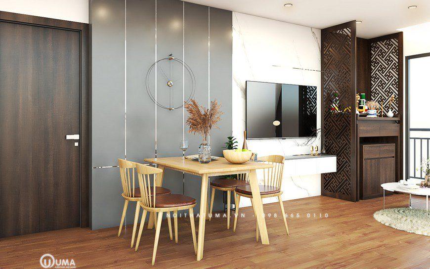 Thiết kế nội thất phòng bếp nhà cô Lê