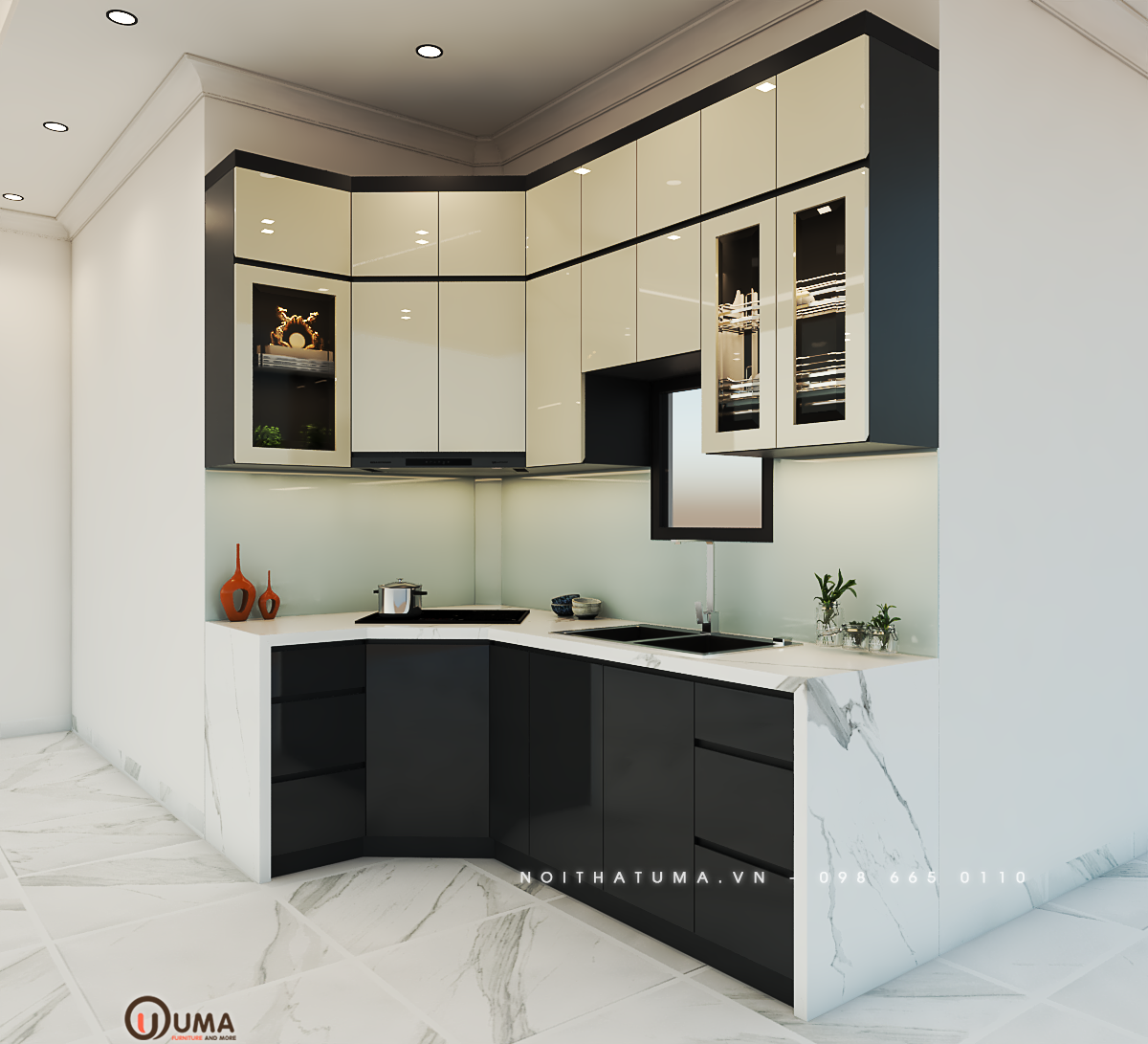 Thiết kế tủ bếp nhỏ gọn, tiện nghi tốt được người dùng ưa chuộng cho chung cư