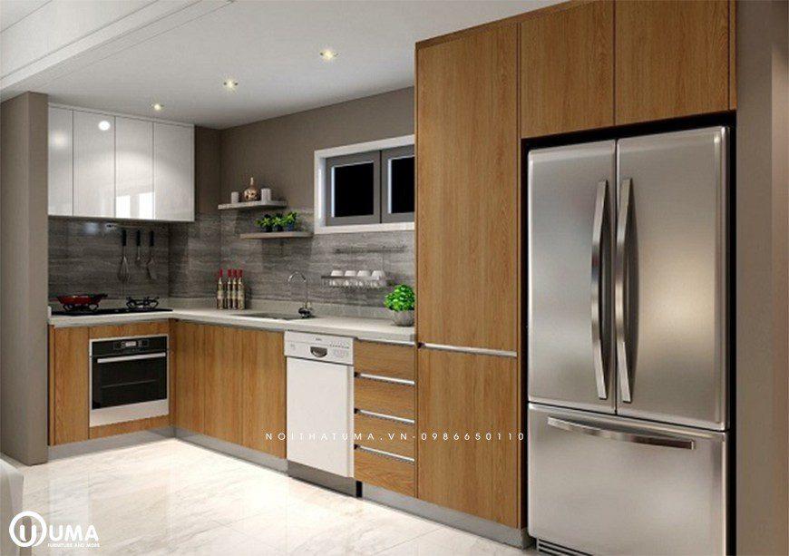 Mẫu 1 – Tủ bếp nhựa Picomat cao cấp