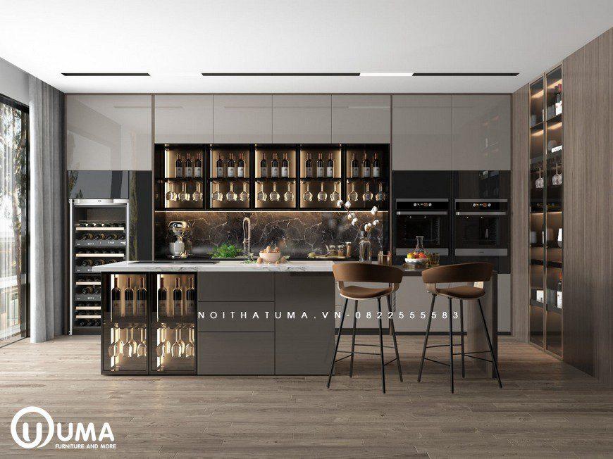 Tủ bếp Melamine – UML 38, Tủ bếp Melamine, ,
