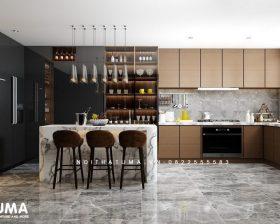 Tủ bếp Acrylic – UAC 49