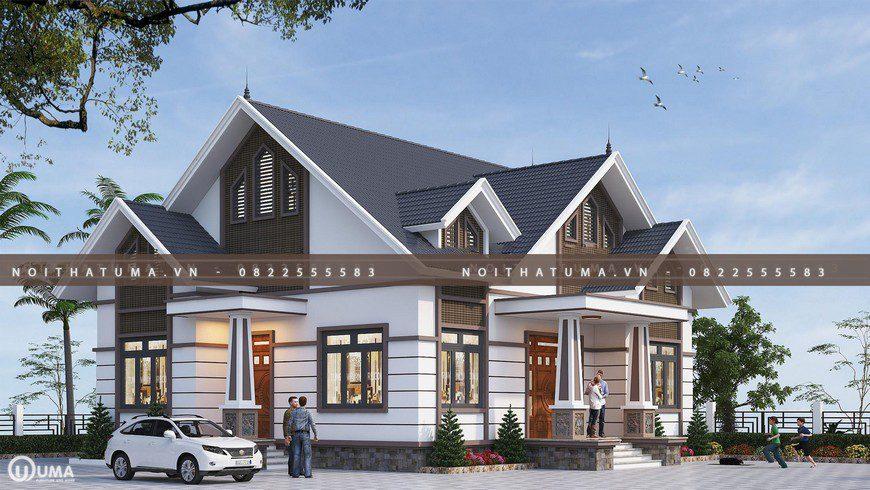 Nhà cấp 4 mái thái 1 tầng 24m x 30m cho gia đình 4 người tại Hà Nam 2