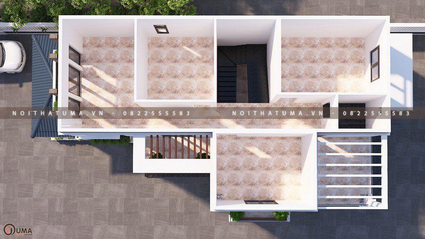 Nhà cấp 4 mái thái 2 tầng 30m x 15m 5 phòng ngủ tại Bắc Giang (3)