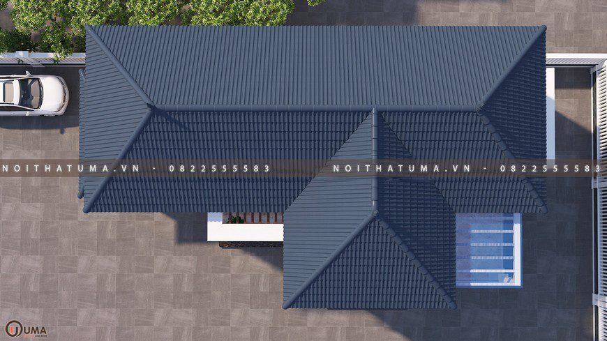 mặt bằng Nhà cấp 4 mái thái 2 tầng 30m x 15m 5 phòng ngủ tại Bắc Giang (2)